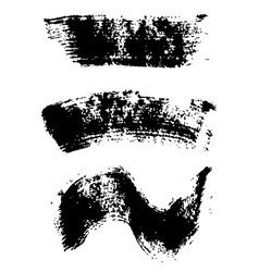 Mascara brush stroke set vector image
