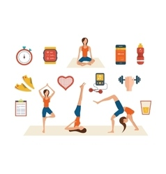 Concept of healthy lifestyle fitness and physical vector