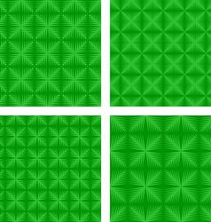 Green seamless pattern background set vector