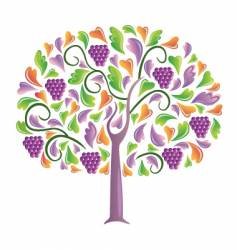 Grapes tree vector