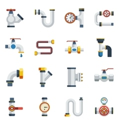 Pipes Icons Set vector image