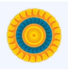 Logo sun and sea vector