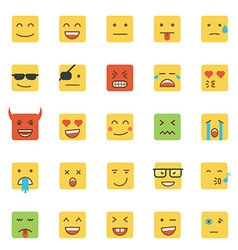 Flat design emoji square vector