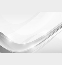 abstract grey background with simply curve vector image vector image