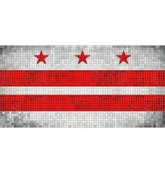 Abstract mosaic flag of washington dc vector