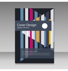 Abstract straight lines cover brochure vector image