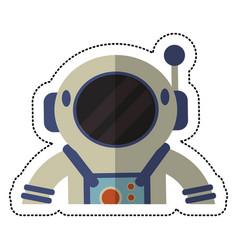 astronaut spacesuit helmet shadow vector image vector image