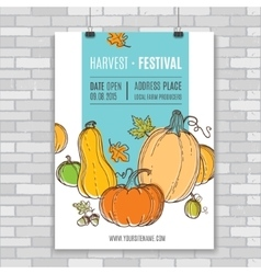Autumn poster vector