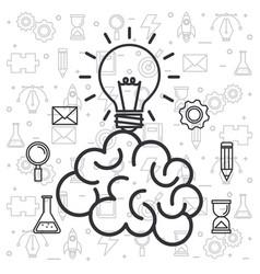 Brain idea creativity invention innovation vector