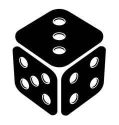 cube casino icon simple black style vector image