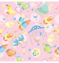 Cute baby background vector
