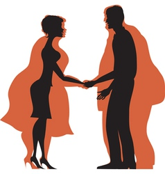 dieting couple vector image vector image