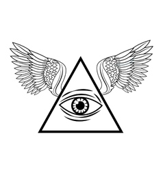 Eye of providence tattoo art design vector