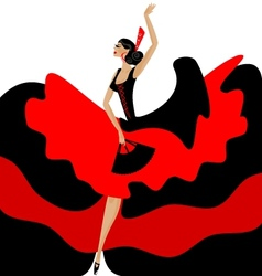 flamenco woman vector image vector image