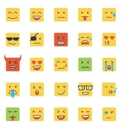 Flat design emoji square vector