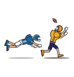Football player cartoon character vector