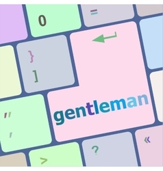 Gentleman button on computer pc keyboard key vector