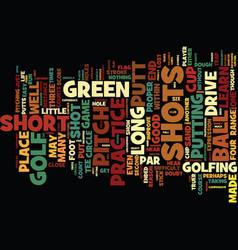 Golf the short short game text background word vector