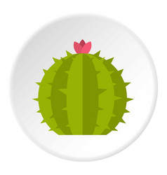 Green cactus plant icon circle vector