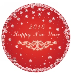 Happy New Year round circle card vector image vector image