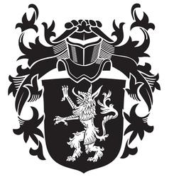 Heraldic silhouette no20 vector