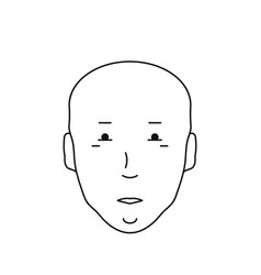 icon bald head with face vector image vector image