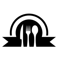 kitchen icon with utensil vector image vector image