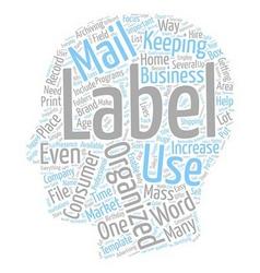 Labels text background wordcloud concept vector image