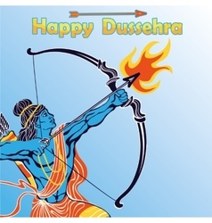 Lord rama portrait with bow arrowhappy dussehra vector