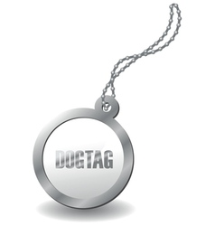 metal dog tag vector image