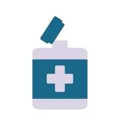 Open bottle medical object pharmacy vector