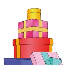 Parcels gifts and presents vector