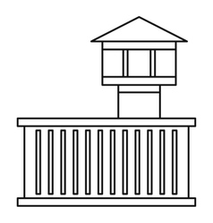 Prison tower icon outline style vector image vector image