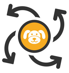 Puppycoin emission swirl flat icon vector