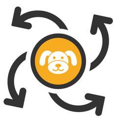 Puppycoin emission swirl flat icon vector