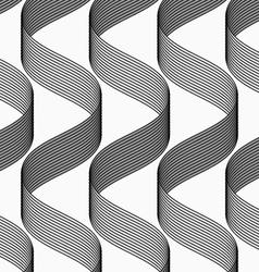 Ribbons making waves pattern vector image vector image