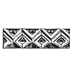 Romanesque motive gothic fabric vintage engraving vector
