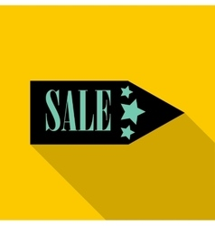 Sale pointer icon flat style vector image