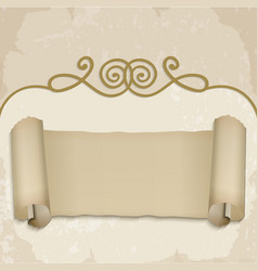 Scroll on old background vector