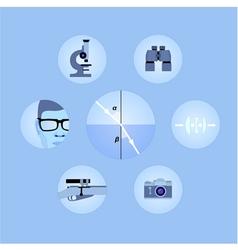 Set of optics icons vector