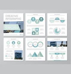 set of turquoise elements for multipurpose a4 vector image