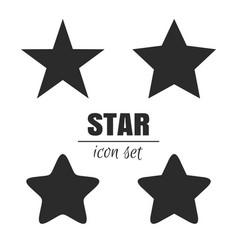 star icon set vector image