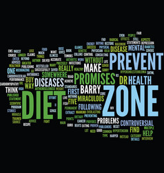 The miraculous claims of the zone diet text vector