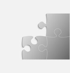 three grey piece puzzle jigsaw vector image vector image