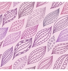 Violet seamless pattern with stylized petals and vector