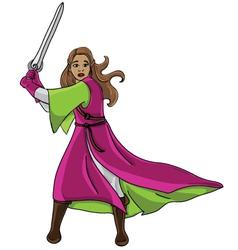 Warrior girl vector