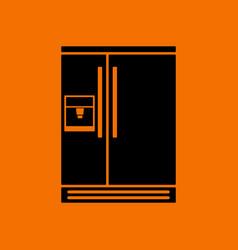 Wide refrigerator icon vector