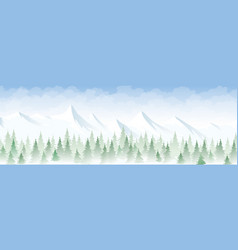 winter landscape in the mountains vector image vector image