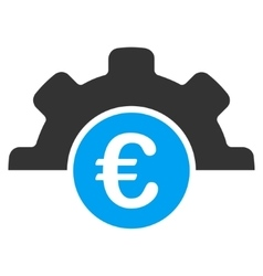 Euro technology flat icon vector
