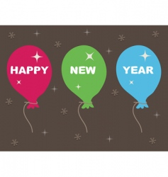 happy new year balloons vector image